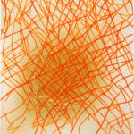Vom Fäden verlieren  130 x 160 cm, Acryl auf Rohleinen