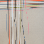 Federlesen,   50 x 60 cm, Acryl auf Leinwand