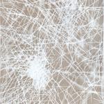 Die Zelle feuert Acryl auf ungrundierter Leinwand, 160 x 180 cm, 2020