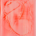 Metamorphose d'une grenouille,  Acryl auf Leinwand 50 x 60 cm, 2020