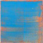 Blau vorm Leuchten,  Lack auf Leinwand, 30 x 30 cm, 2020