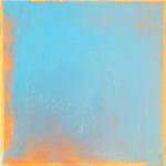 Blau vorm Leuchten 2,  Lack auf Leinwand, 30 x 30 cm, 2020