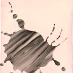 Komm vom Fleck weg,  Lack auf Leinwand, 50 x 60 cm, 2020