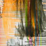 """""""Sturm im Wasserglas"""",  50 x 60 cm, Acryl auf Holz"""